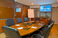 Fully equipped conference room with large screen, whiteboard, multi-party and point to point IP video conference facility and conference phone are available for use as part of the business continuity facility or on a per-request basis.